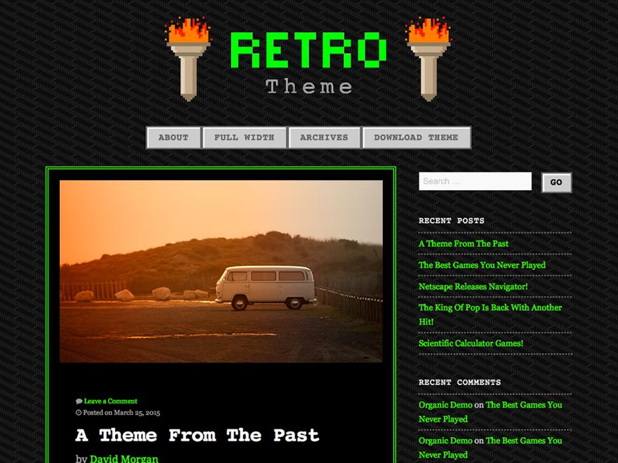 90s Retro Preview Wordpress Theme - Rating, Reviews, Preview, Demo & Download