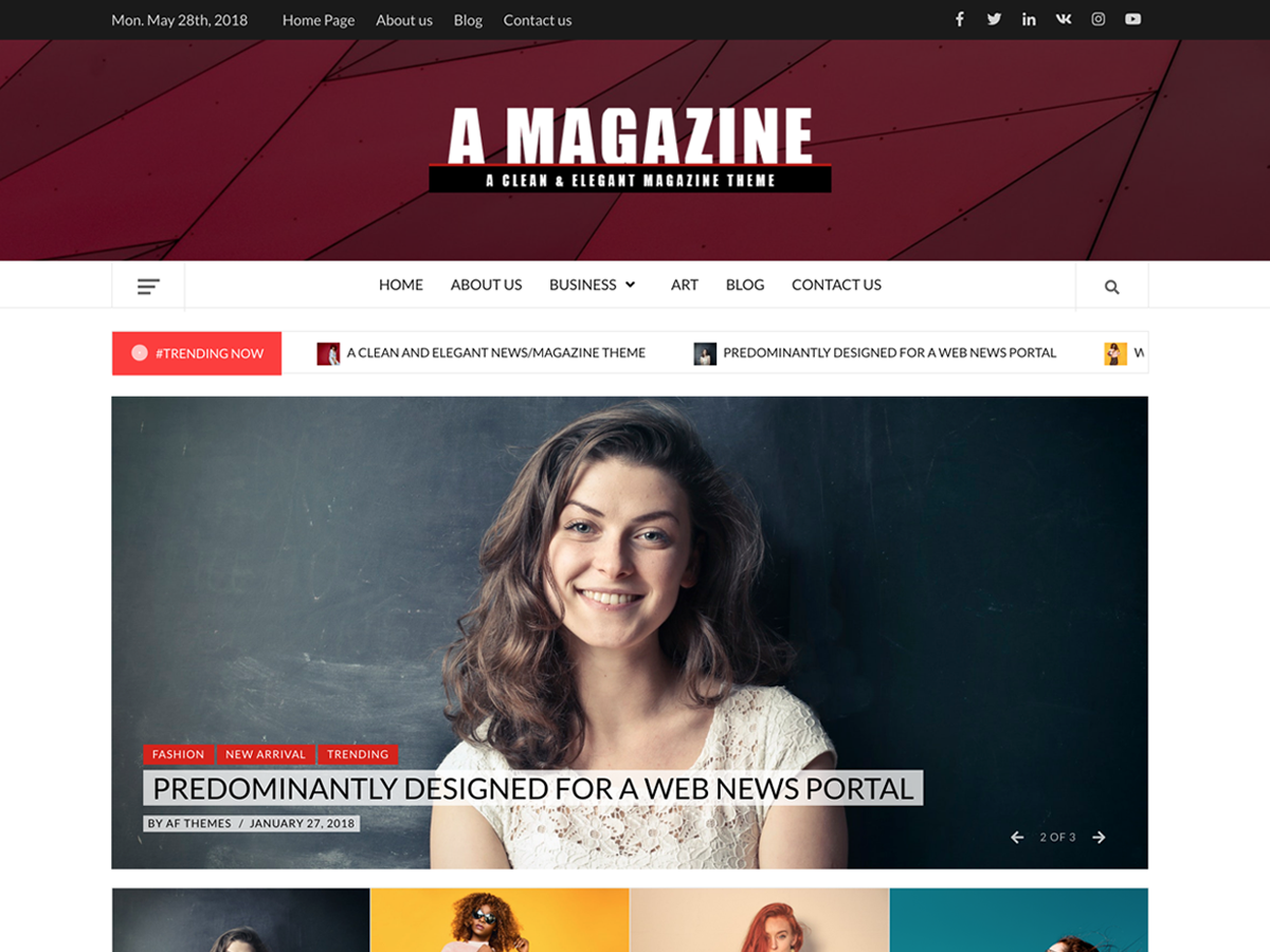 A Magazine Preview Wordpress Theme - Rating, Reviews, Preview, Demo & Download