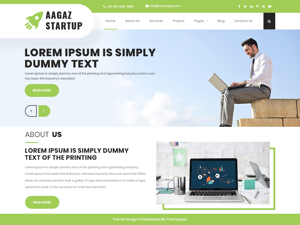 Aagaz Startup Preview Wordpress Theme - Rating, Reviews, Preview, Demo & Download