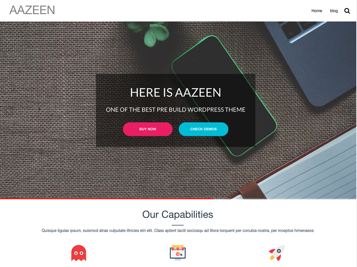 Aazeen Preview Wordpress Theme - Rating, Reviews, Preview, Demo & Download