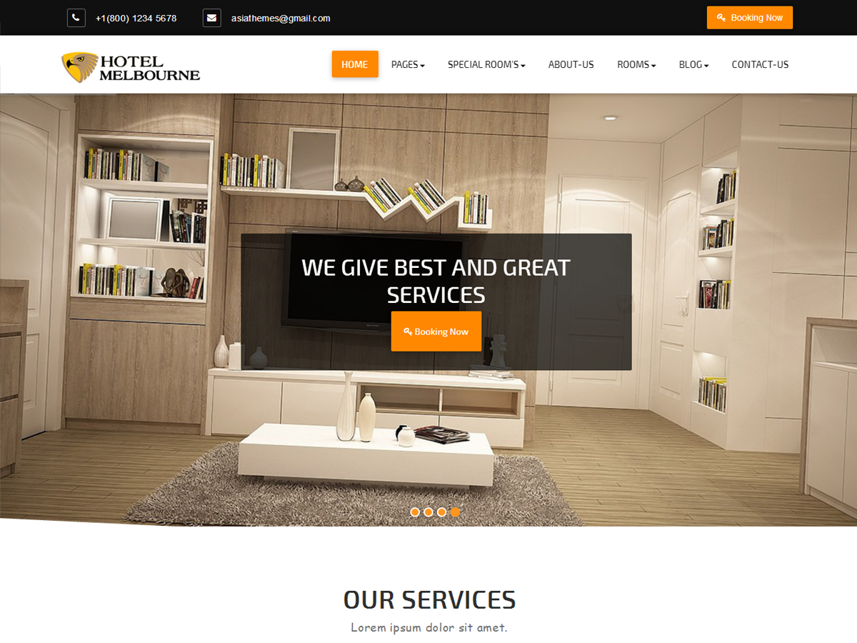 Abacus Hotel Preview Wordpress Theme - Rating, Reviews, Preview, Demo & Download