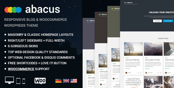 Abacus Preview Wordpress Theme - Rating, Reviews, Preview, Demo & Download