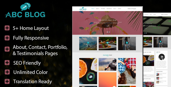 Abcblog Preview Wordpress Theme - Rating, Reviews, Preview, Demo & Download