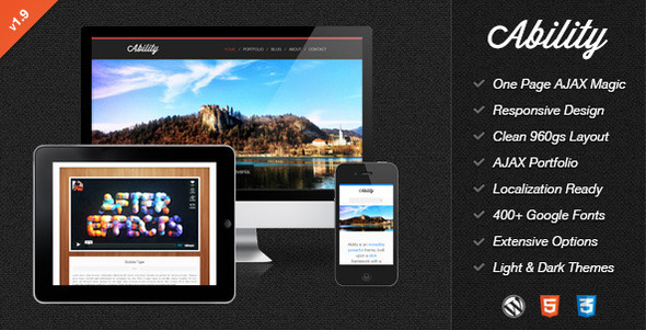Ability Preview Wordpress Theme - Rating, Reviews, Preview, Demo & Download
