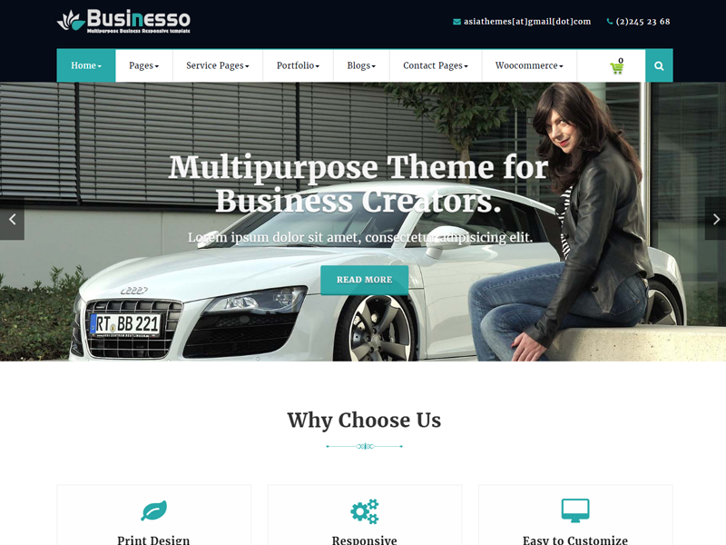Abubize Business Preview Wordpress Theme - Rating, Reviews, Preview, Demo & Download