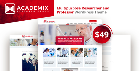 Academix Preview Wordpress Theme - Rating, Reviews, Preview, Demo & Download