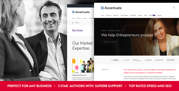 Accentuate Preview Wordpress Theme - Rating, Reviews, Preview, Demo & Download