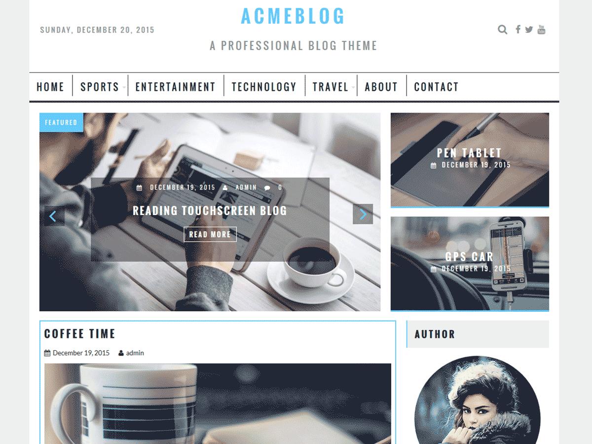 AcmeBlog Preview Wordpress Theme - Rating, Reviews, Preview, Demo & Download