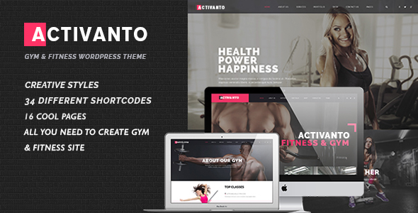 Activanto Preview Wordpress Theme - Rating, Reviews, Preview, Demo & Download