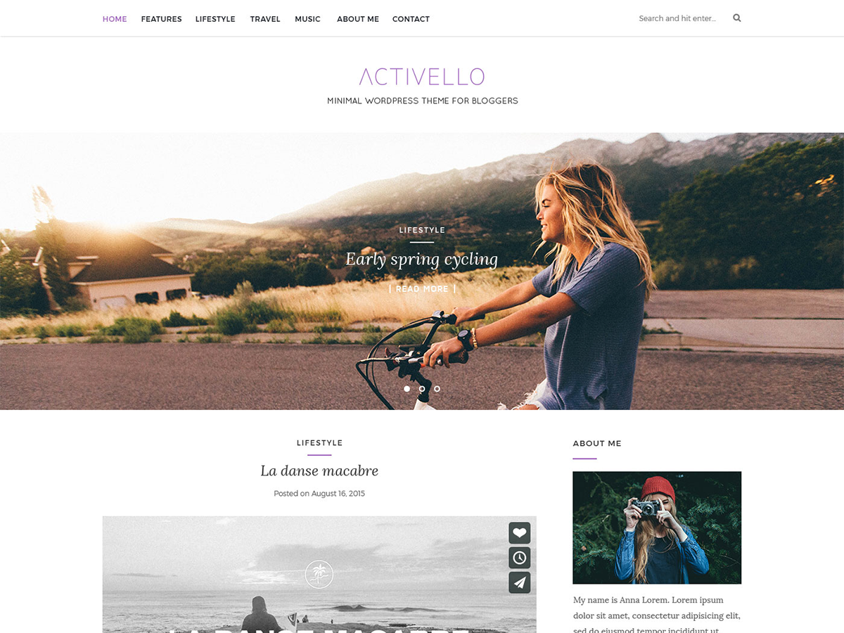 Activello Preview Wordpress Theme - Rating, Reviews, Preview, Demo & Download