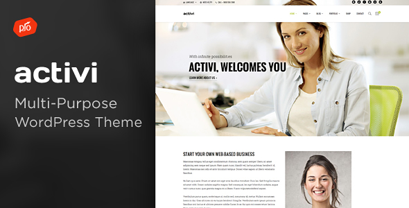 Activi Preview Wordpress Theme - Rating, Reviews, Preview, Demo & Download