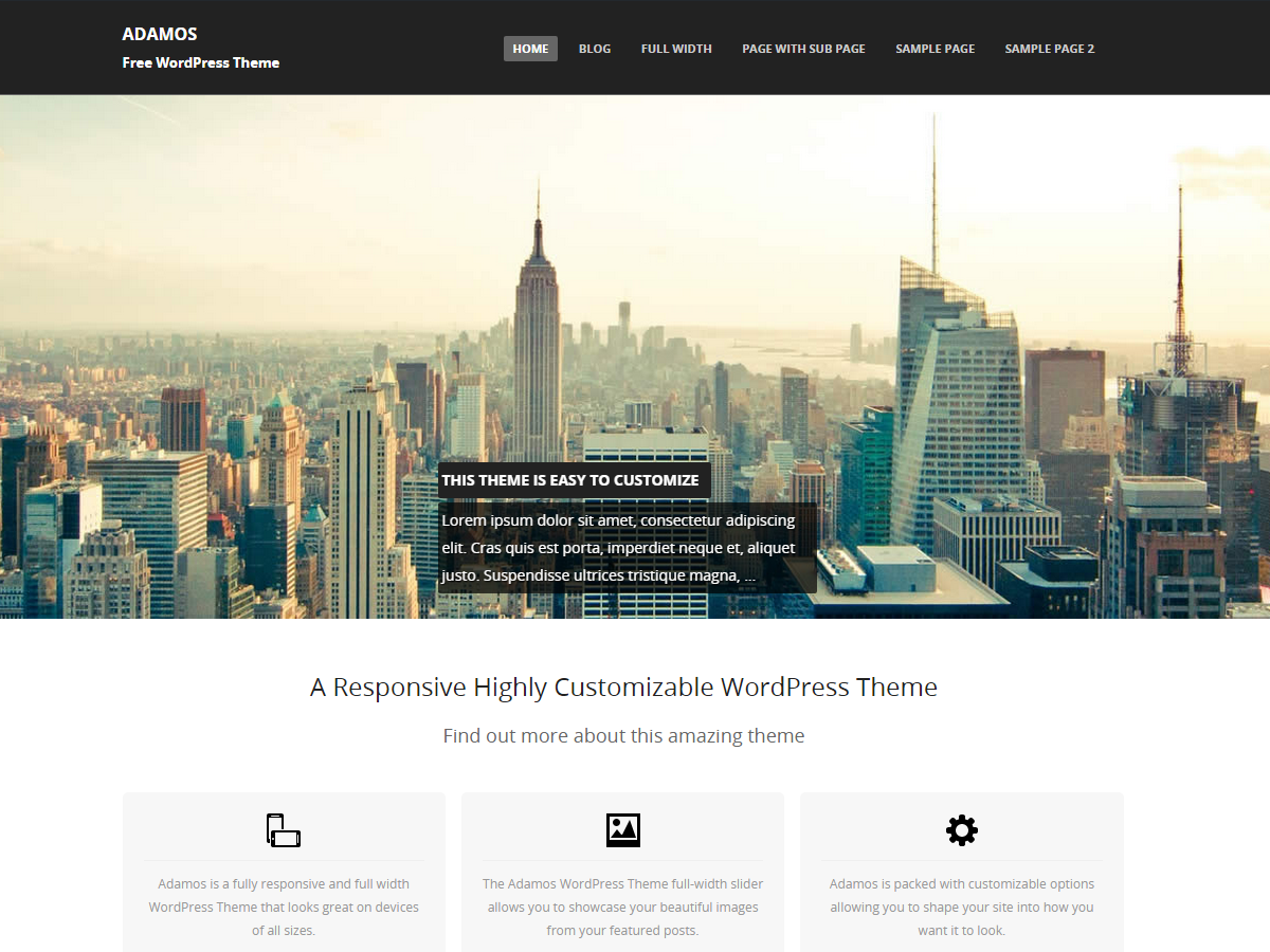 Adamos Preview Wordpress Theme - Rating, Reviews, Preview, Demo & Download