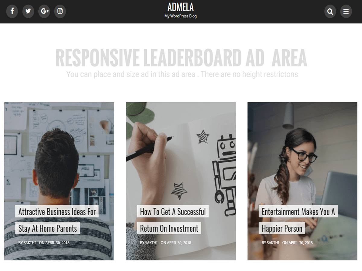 Admela Preview Wordpress Theme - Rating, Reviews, Preview, Demo & Download