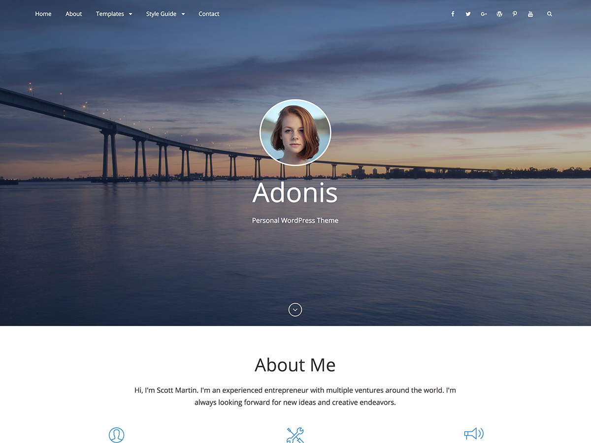 Adonis Preview Wordpress Theme - Rating, Reviews, Preview, Demo & Download