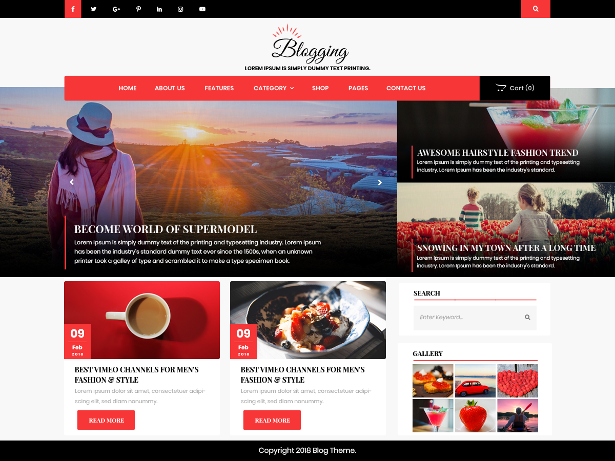 Advance Blogging Preview Wordpress Theme - Rating, Reviews, Preview, Demo & Download