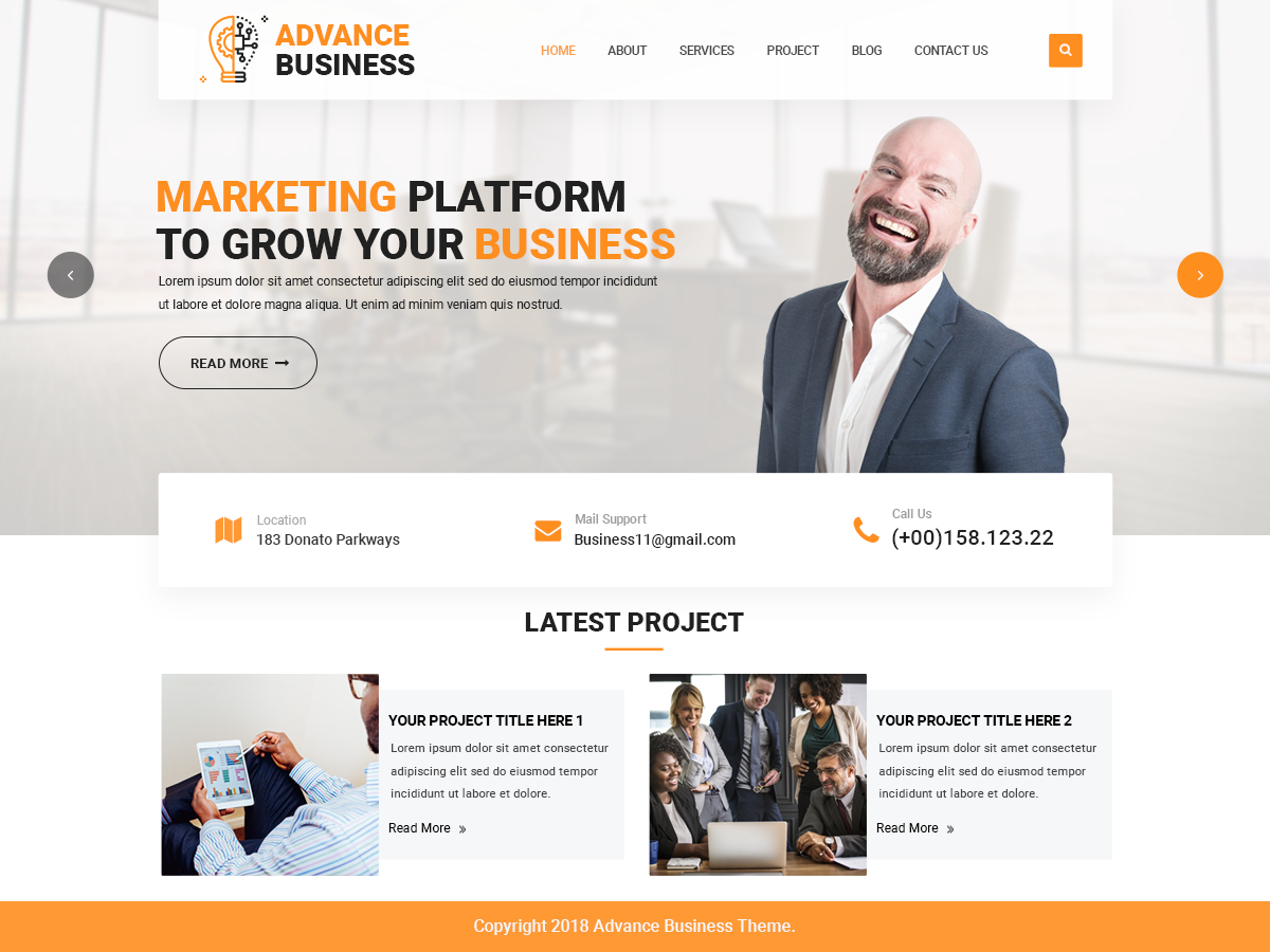 Advance Business Preview Wordpress Theme - Rating, Reviews, Preview, Demo & Download