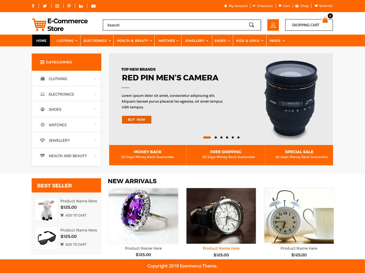 Advance Ecommerce Preview Wordpress Theme - Rating, Reviews, Preview, Demo & Download