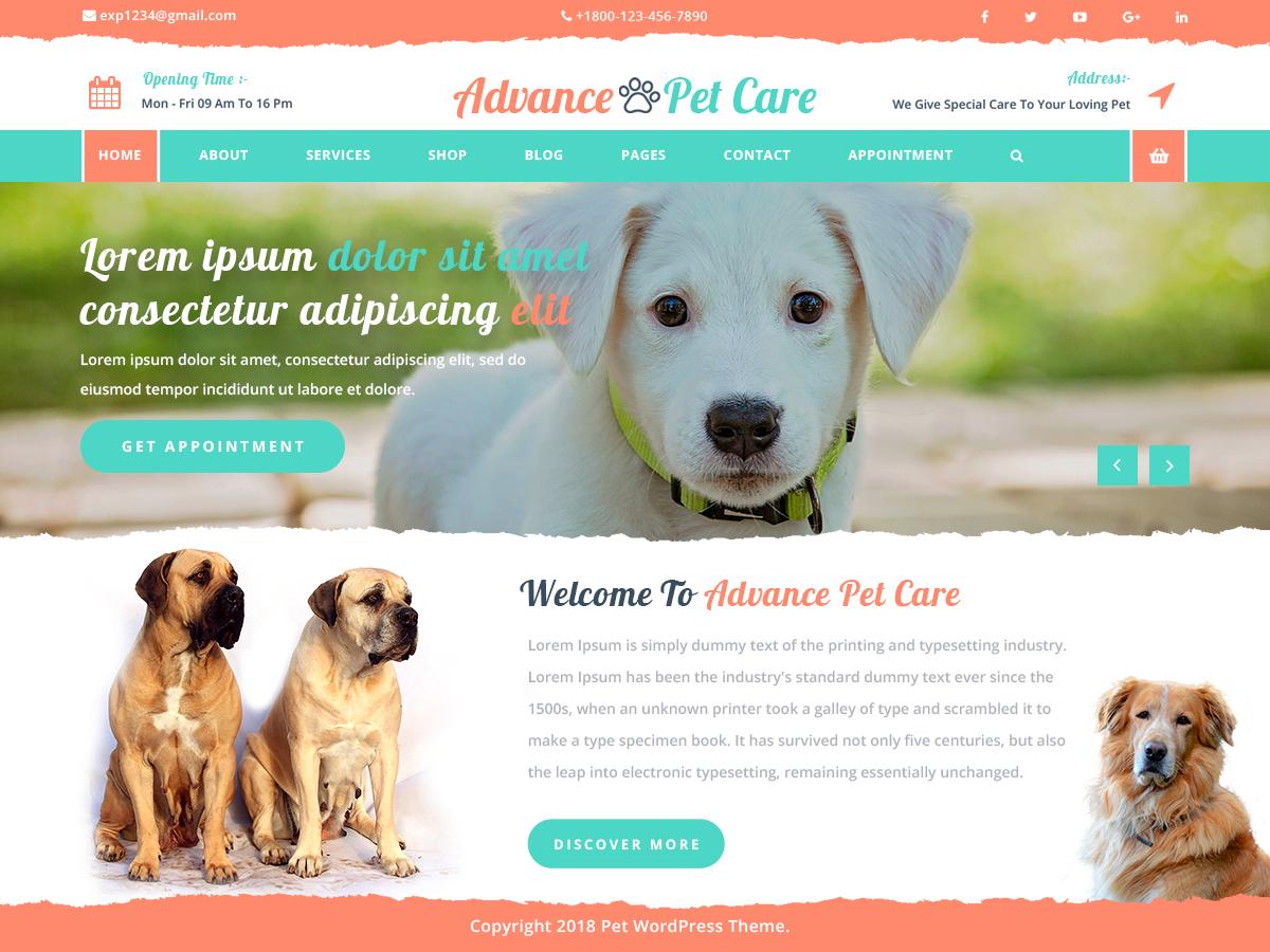 Advance Pet Preview Wordpress Theme - Rating, Reviews, Preview, Demo & Download