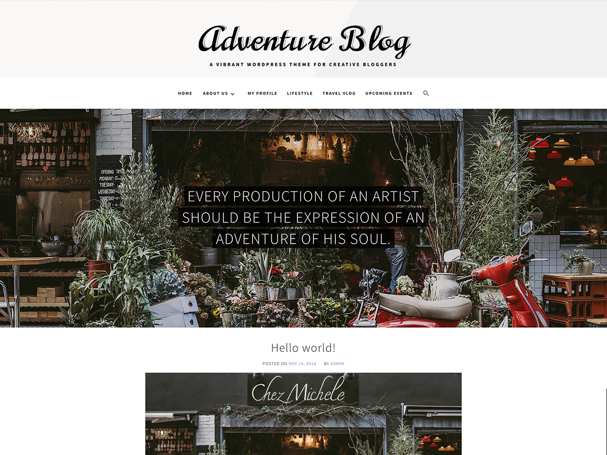 Adventure Blog Preview Wordpress Theme - Rating, Reviews, Preview, Demo & Download