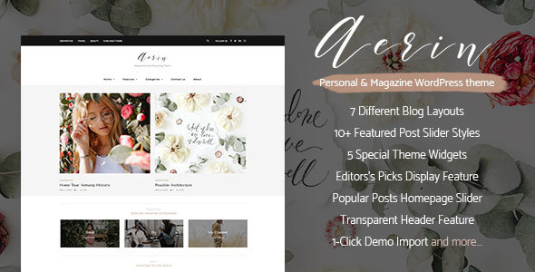 Aerin Preview Wordpress Theme - Rating, Reviews, Preview, Demo & Download