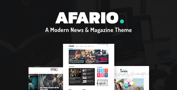 Afario Preview Wordpress Theme - Rating, Reviews, Preview, Demo & Download