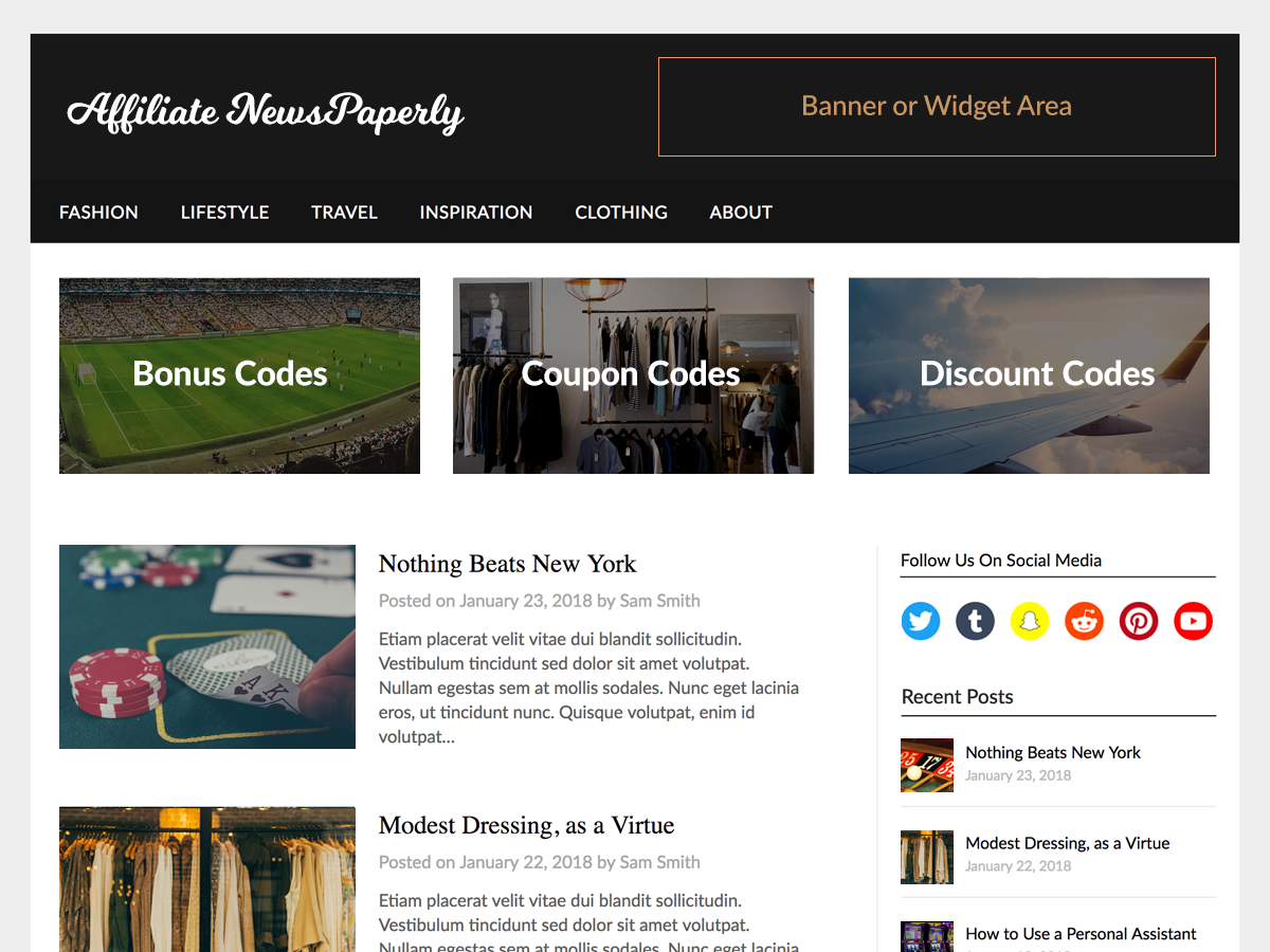 Affiliate Newspaperly Preview Wordpress Theme - Rating, Reviews, Preview, Demo & Download
