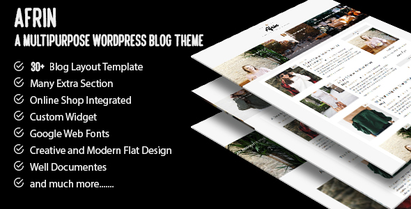 Afrin Preview Wordpress Theme - Rating, Reviews, Preview, Demo & Download
