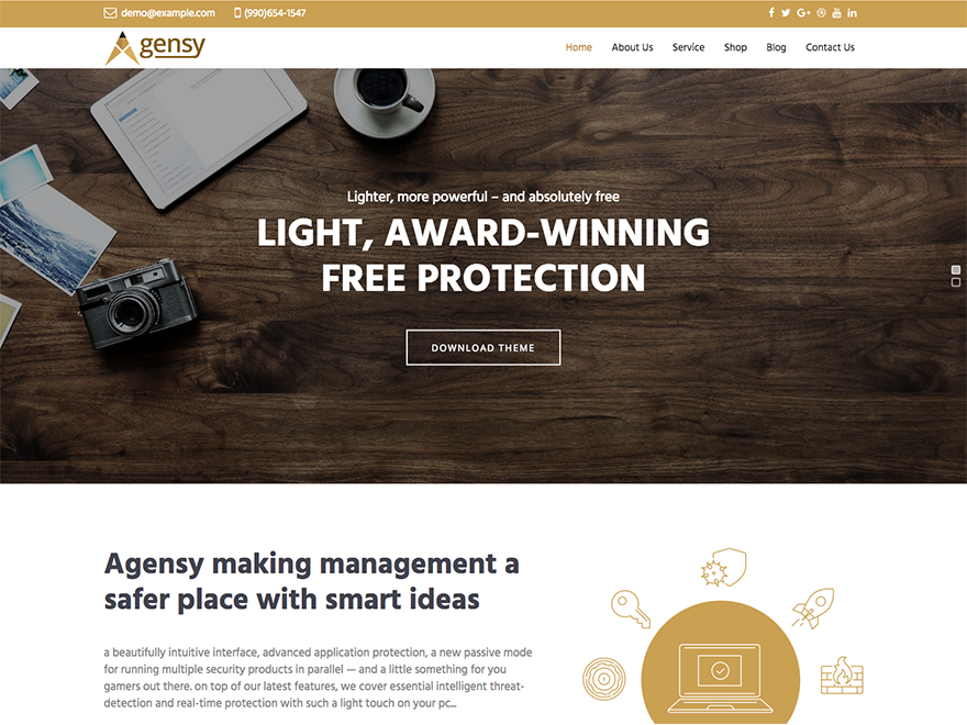 Agency Lite Preview Wordpress Theme - Rating, Reviews, Preview, Demo & Download