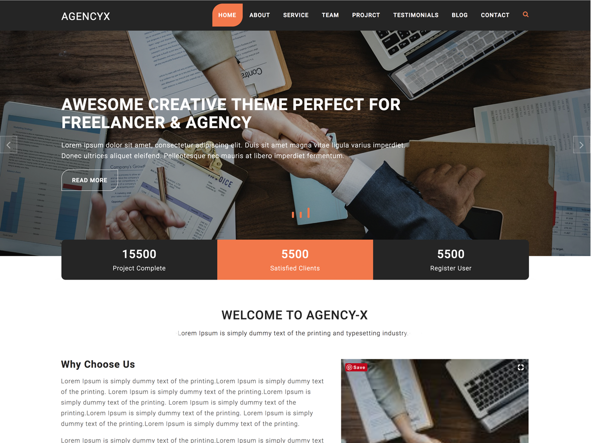 Agency X Preview Wordpress Theme - Rating, Reviews, Preview, Demo & Download