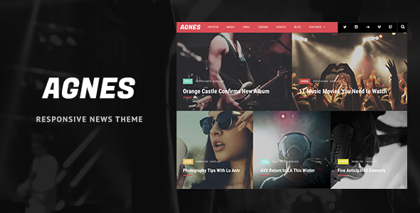 Agnes Preview Wordpress Theme - Rating, Reviews, Preview, Demo & Download