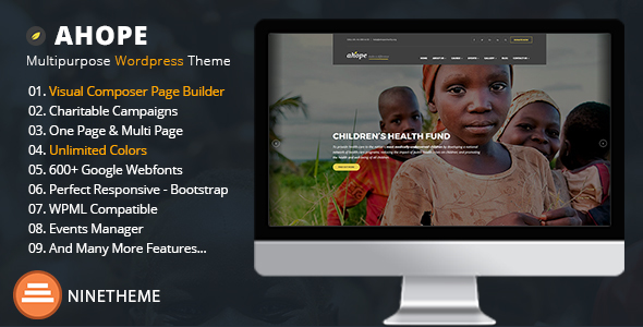 Ahope Preview Wordpress Theme - Rating, Reviews, Preview, Demo & Download