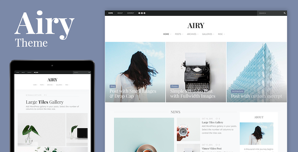 Airy Preview Wordpress Theme - Rating, Reviews, Preview, Demo & Download