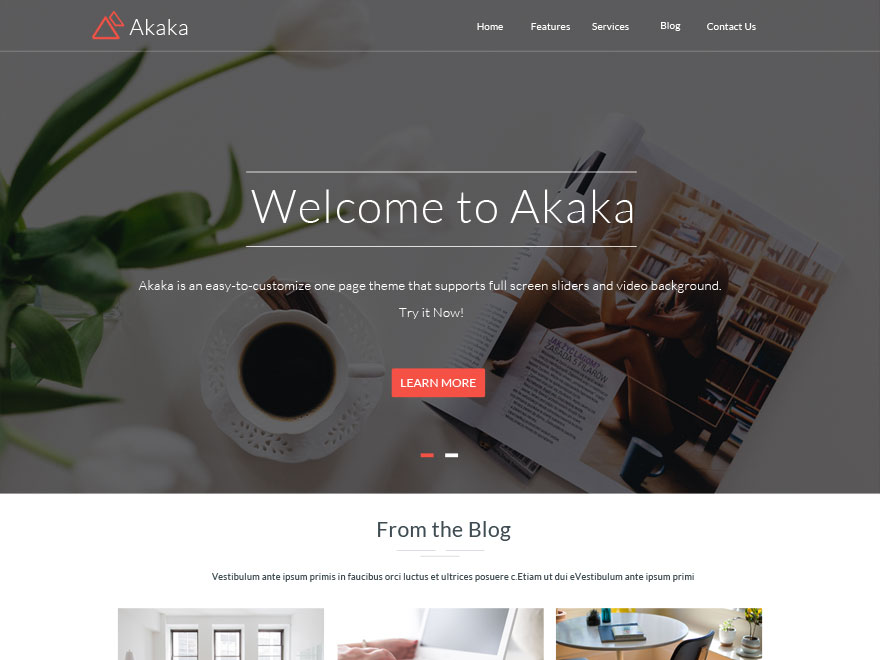Akaka Preview Wordpress Theme - Rating, Reviews, Preview, Demo & Download