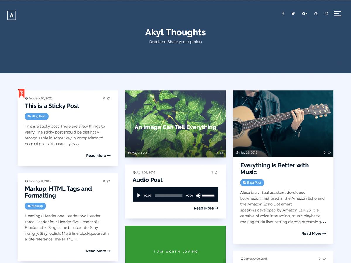 Akyl Preview Wordpress Theme - Rating, Reviews, Preview, Demo & Download