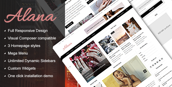 Alana Preview Wordpress Theme - Rating, Reviews, Preview, Demo & Download