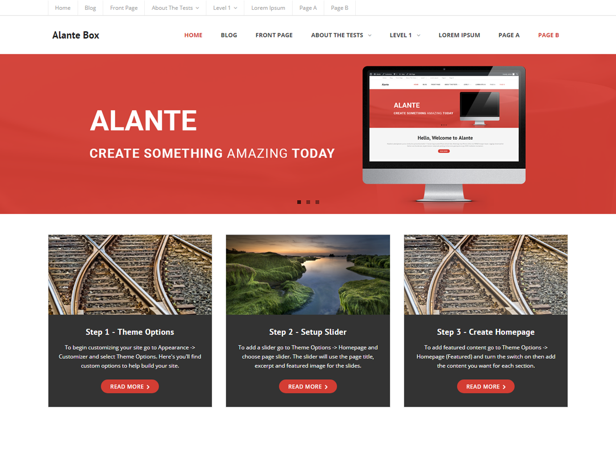 Alante Boxed Preview Wordpress Theme - Rating, Reviews, Preview, Demo & Download