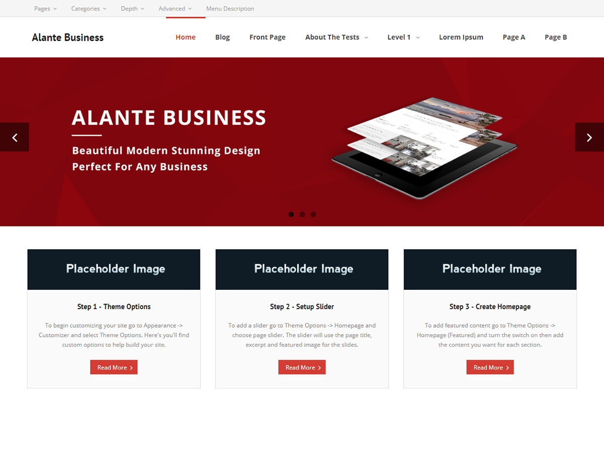 Alante Business Preview Wordpress Theme - Rating, Reviews, Preview, Demo & Download