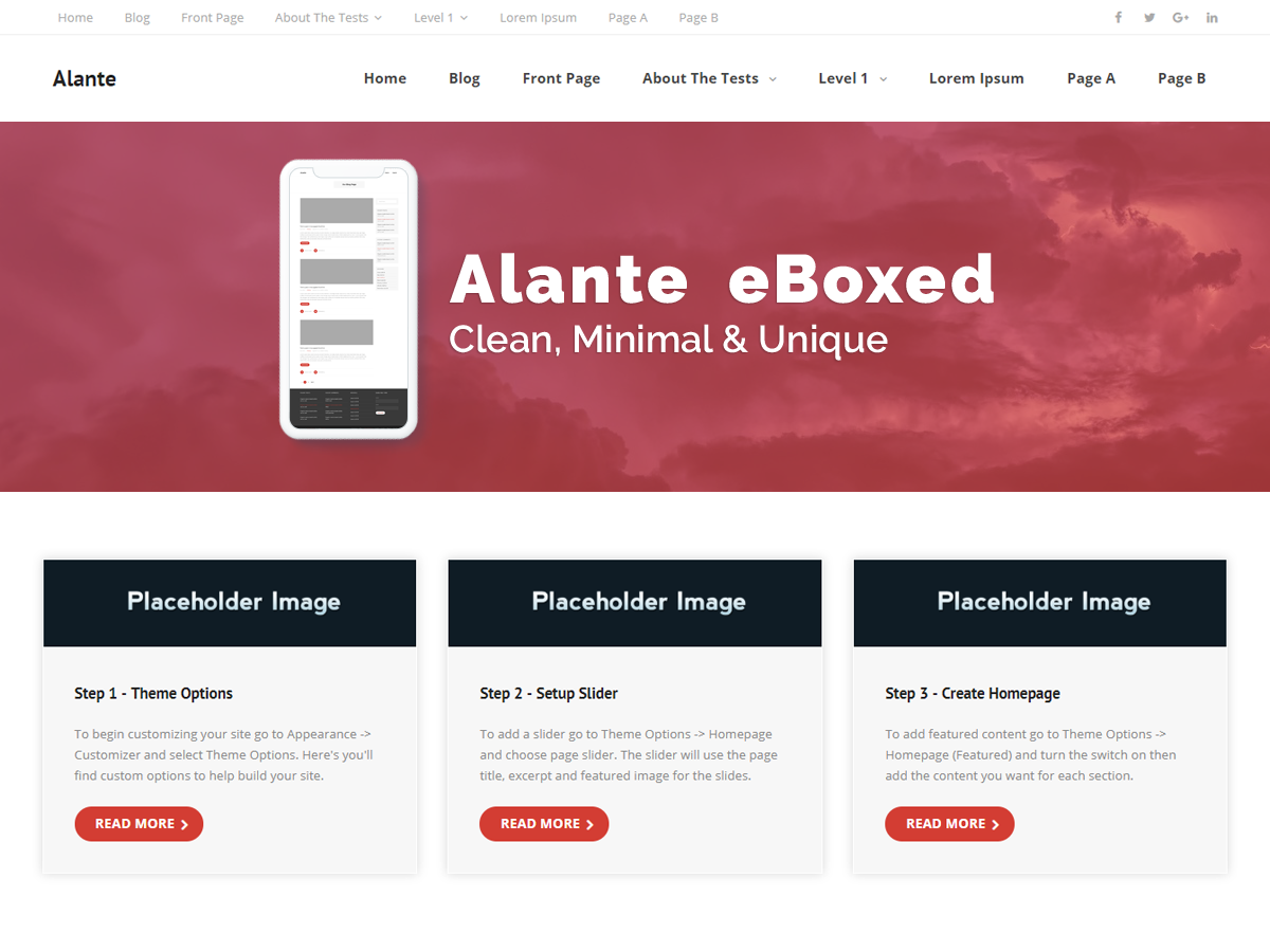 Alante EBoxed Preview Wordpress Theme - Rating, Reviews, Preview, Demo & Download