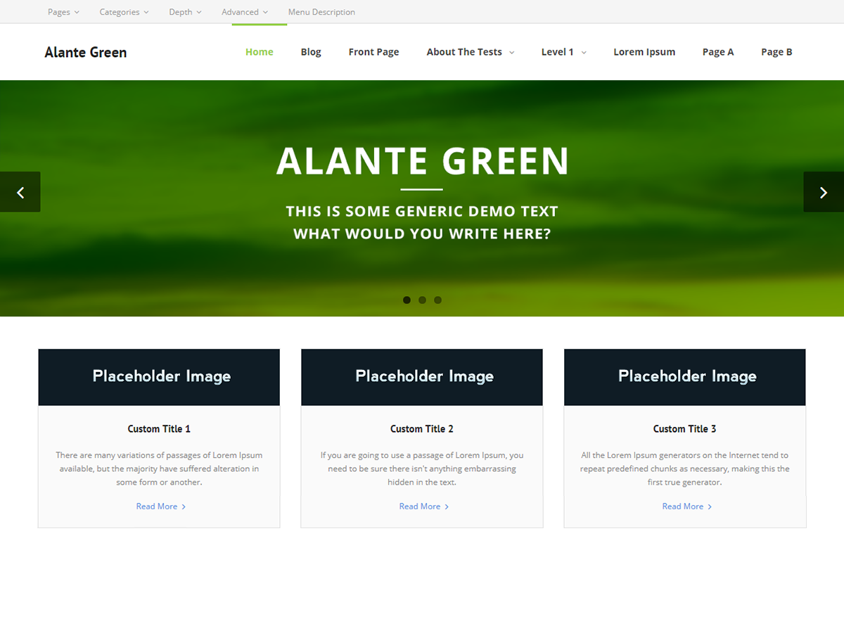 Alante Green Preview Wordpress Theme - Rating, Reviews, Preview, Demo & Download