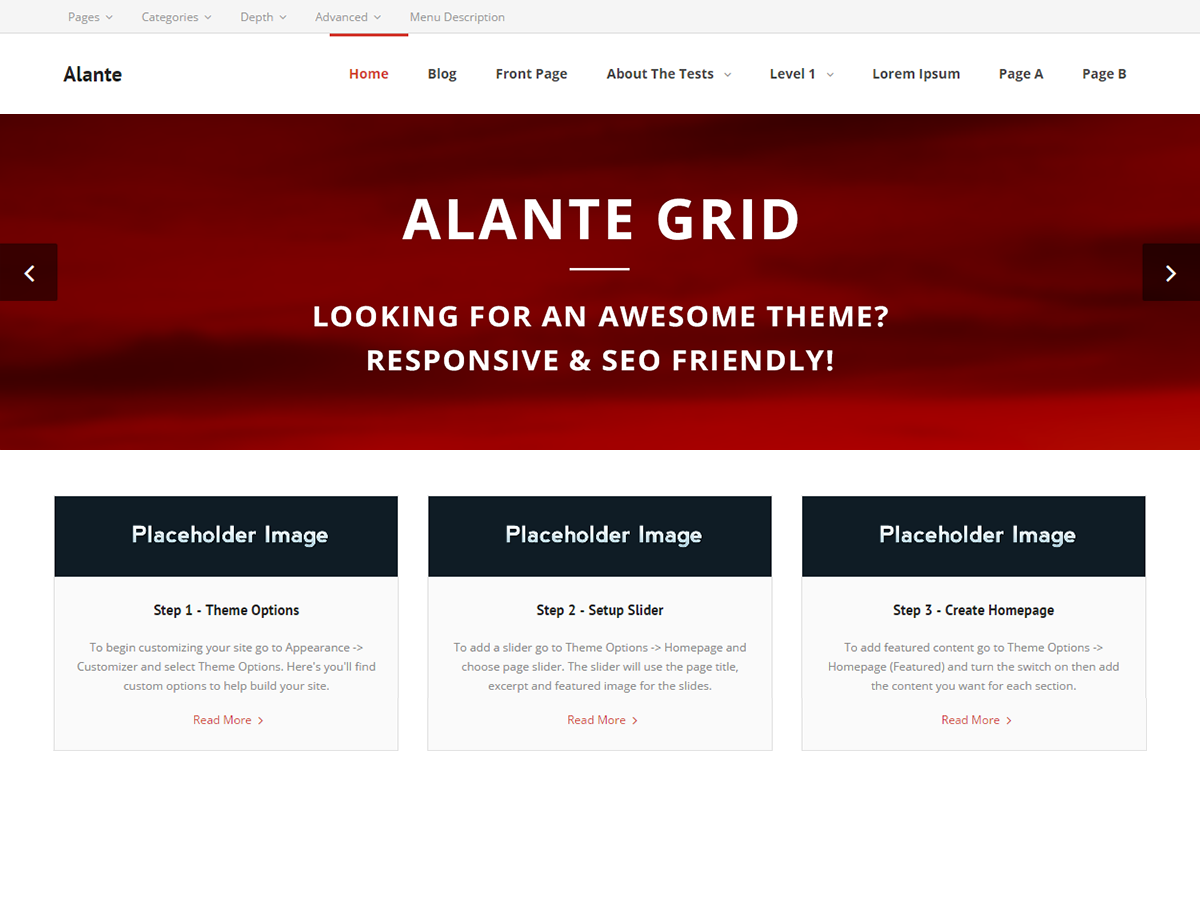 Alante Grid Preview Wordpress Theme - Rating, Reviews, Preview, Demo & Download
