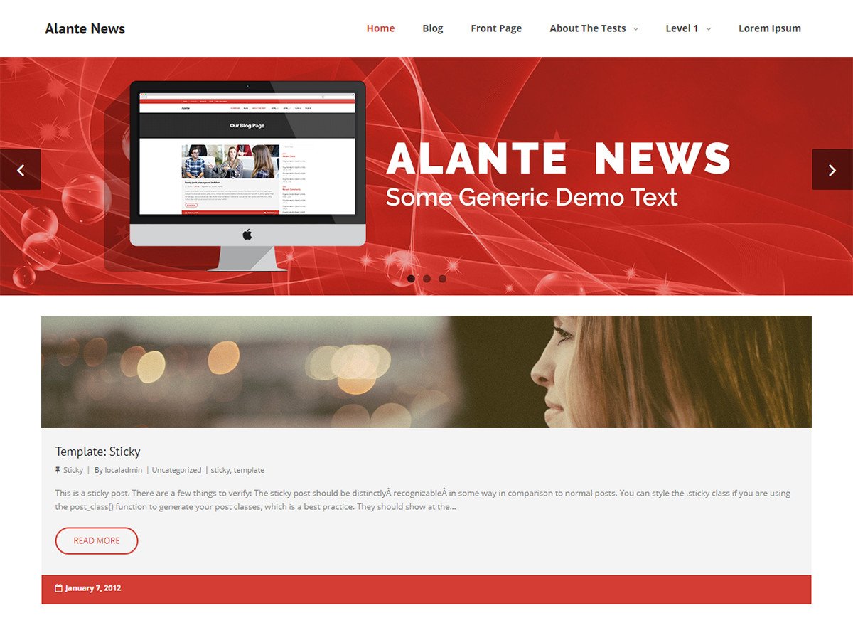Alante News Preview Wordpress Theme - Rating, Reviews, Preview, Demo & Download