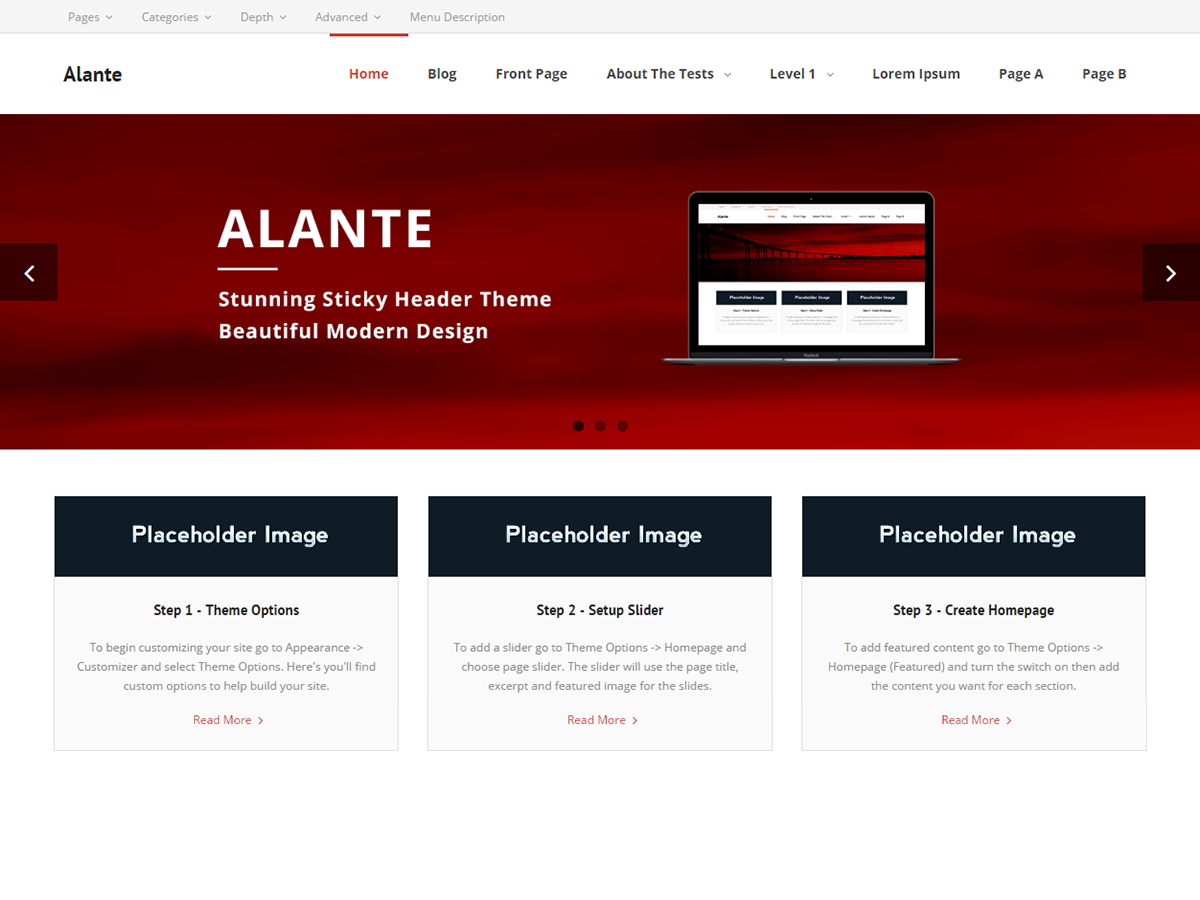 Alante Preview Wordpress Theme - Rating, Reviews, Preview, Demo & Download