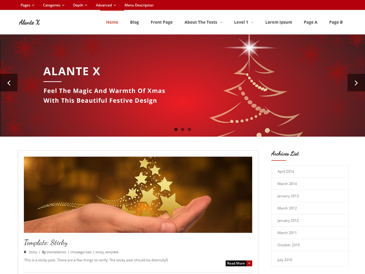Alante X Preview Wordpress Theme - Rating, Reviews, Preview, Demo & Download