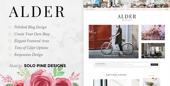 Alder Preview Wordpress Theme - Rating, Reviews, Preview, Demo & Download