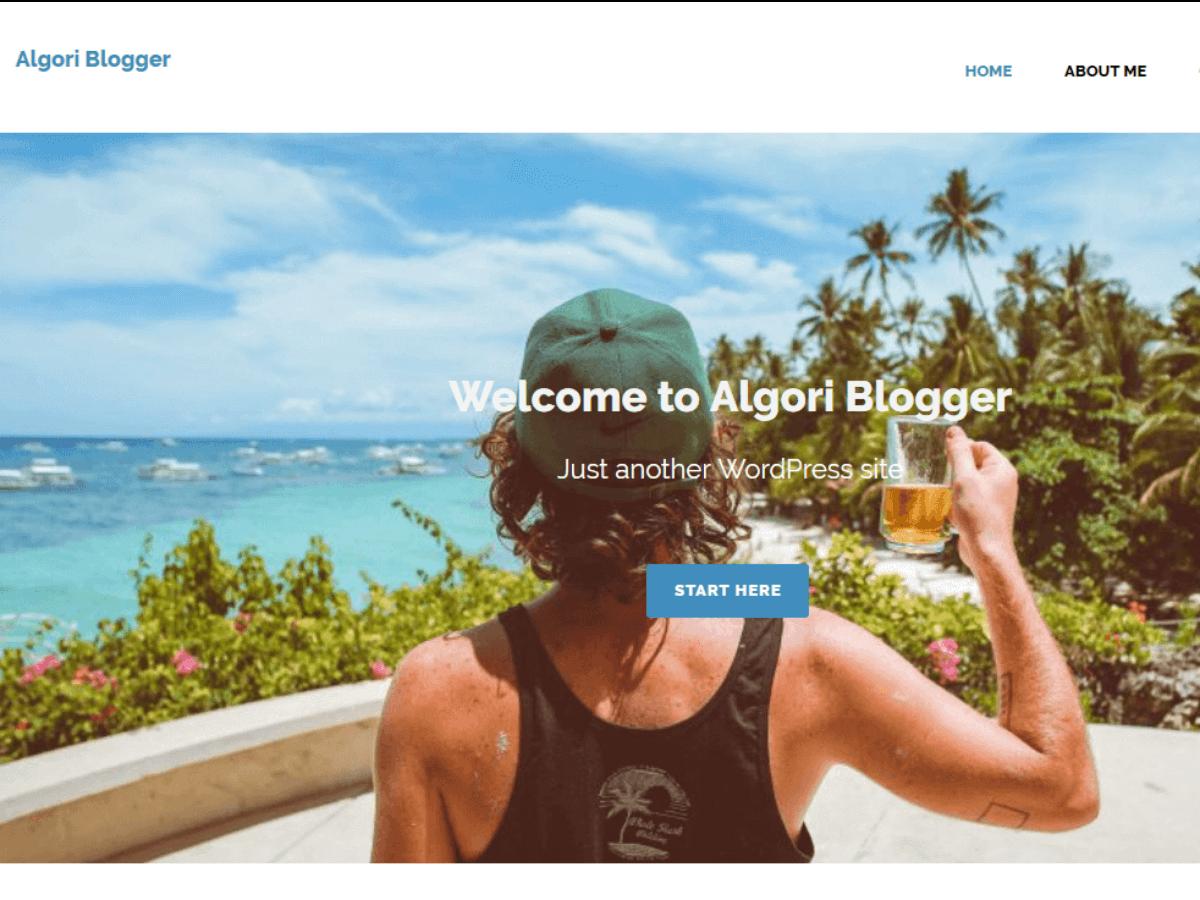 Algori Blogger Preview Wordpress Theme - Rating, Reviews, Preview, Demo & Download