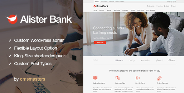 Alister Bank Preview Wordpress Theme - Rating, Reviews, Preview, Demo & Download