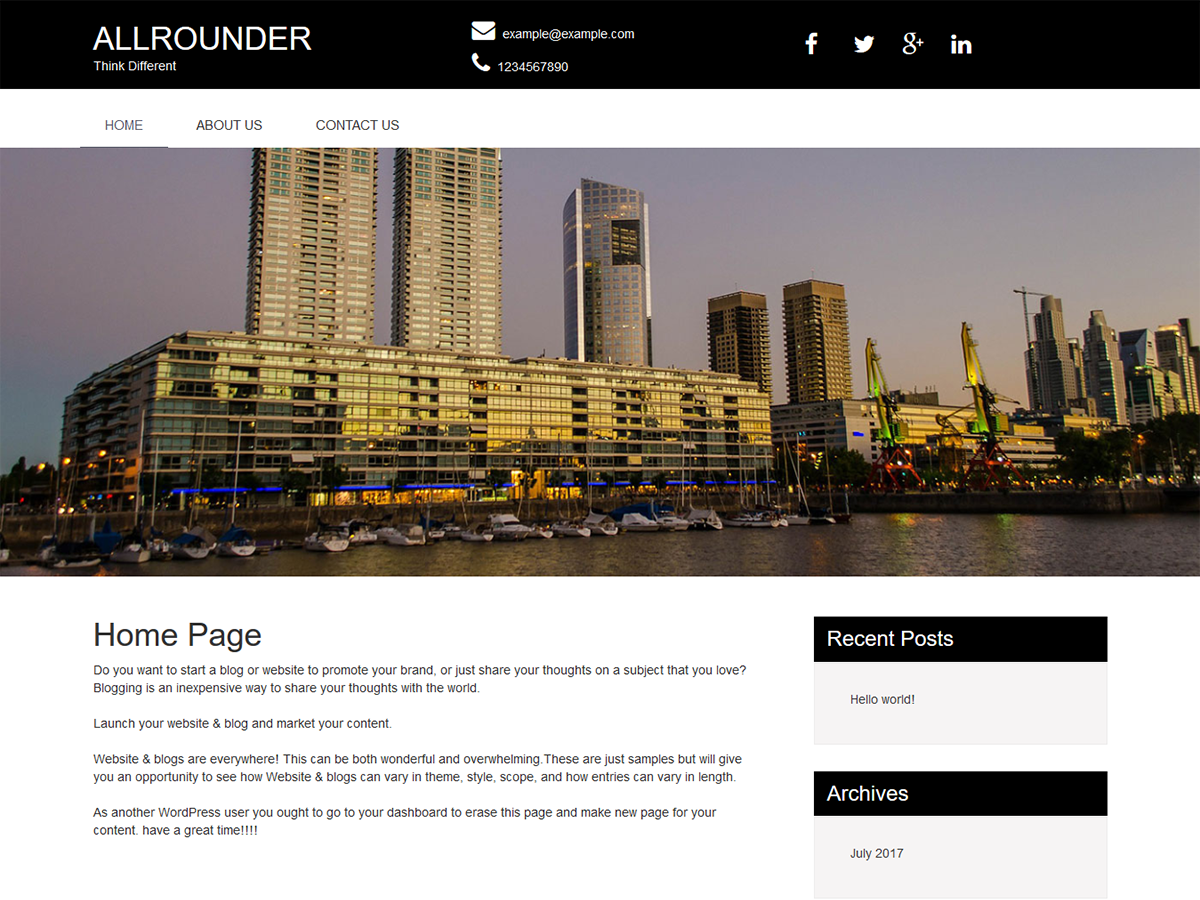 All Rounder Preview Wordpress Theme - Rating, Reviews, Preview, Demo & Download