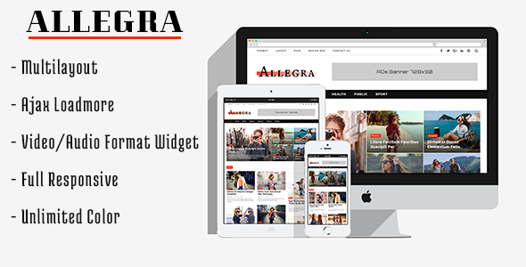 Allegra Preview Wordpress Theme - Rating, Reviews, Preview, Demo & Download