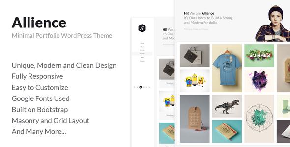 Allience Preview Wordpress Theme - Rating, Reviews, Preview, Demo & Download