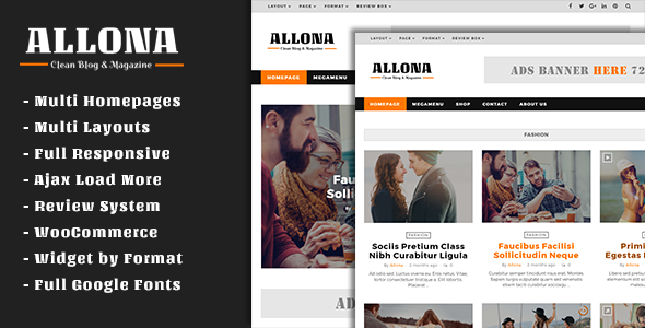 Allona Preview Wordpress Theme - Rating, Reviews, Preview, Demo & Download